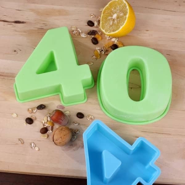 Backform zum 40. Geburtstag, grün