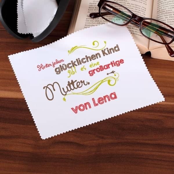Brillenputztuch Muttertag Wunschname personalisiert
