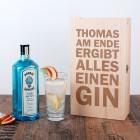 Gin Geschenkset - Am Ende ergibt alles einen GIN - mit Namen