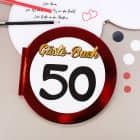Gäste-Buch Verkehrsschild 50
