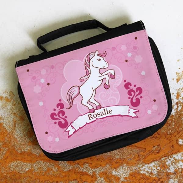 Kulturtasche mit Pink Pony