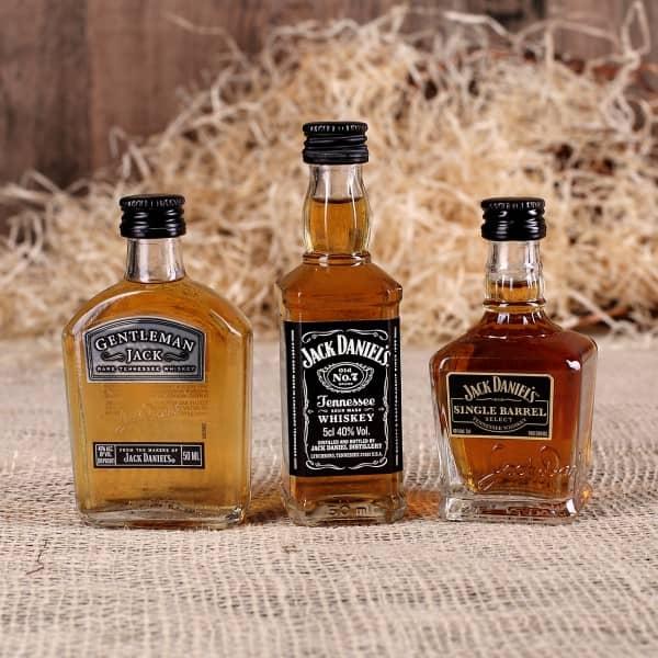 Miniatur-Set 3 Flaschen Jack Daniel`s