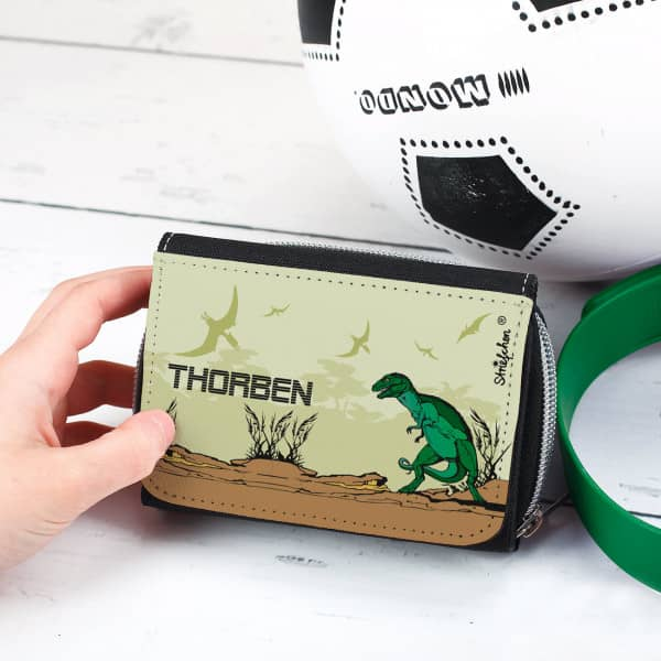Geldbörse für Kinder Dinosaurier