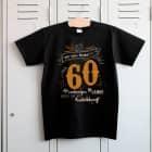 Das Leben beginnt mit 60 - T-Shirt zum Geburtstag