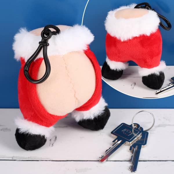 Plüsch Anhänger Weihnachtsmann mit Furz-Sound