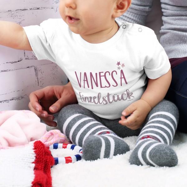 Babyshirt Einzelstück mit Namensaufdruck