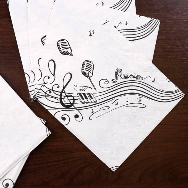 10 Servietten im Musik Design