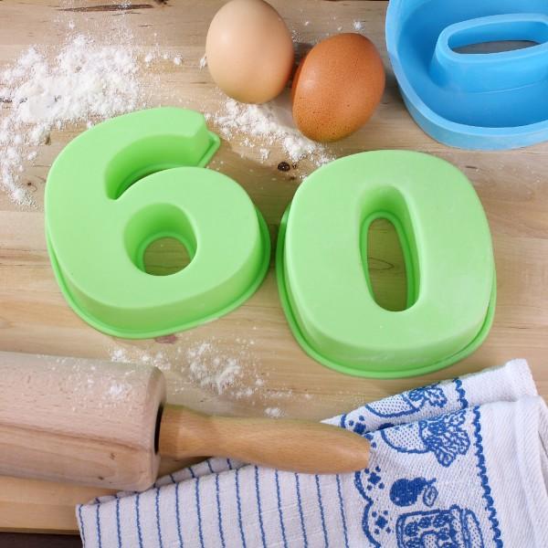 Backform zum 60. Geburtstag, grün