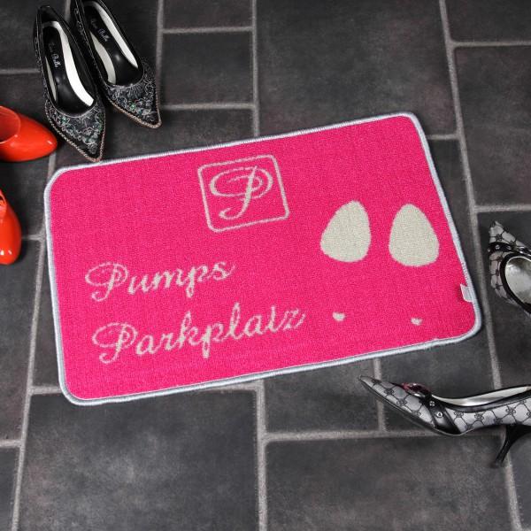 Pinke Fußmatte - Pumpsparkplatz Tussi on Tour