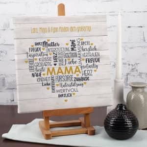 Personalisierte Leinwand zum Muttertag