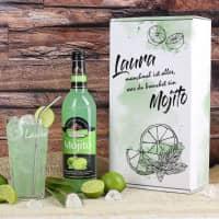 Mojito-Geschenkset mit graviertem Longdrinkglas und personalisierter Verpackung
