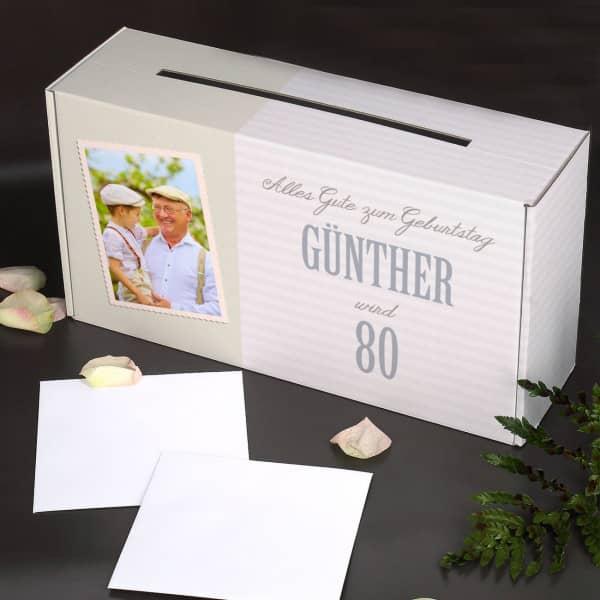 Personalisierbare Glückwunschkarten Box zum Geburtstag