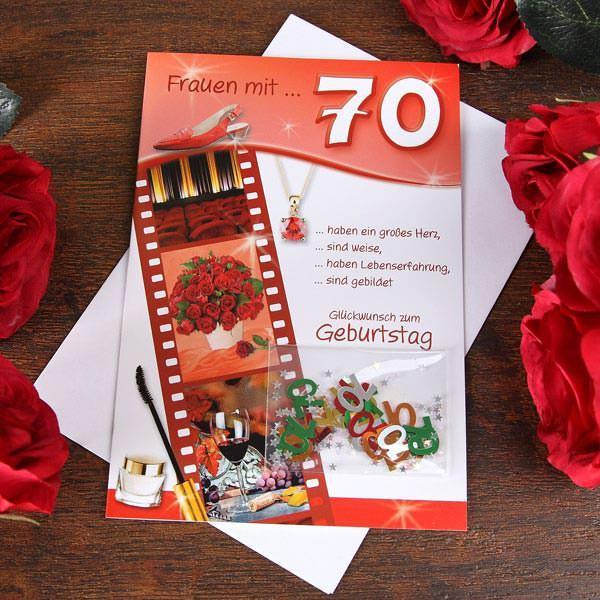 Grußkarte zum 70. Geburtstag