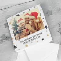 Foto-Weihnachtskarte mit Ihrem Wunschtext