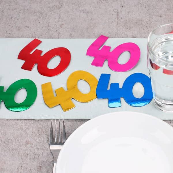 Jumbo Konfetti zum 40.Geburtstag