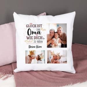 Fotokissen für Oma mit Text