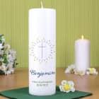 Kerze zur Konfirmation mit Name und Datum