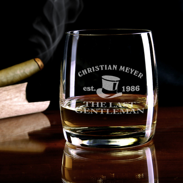 Whiskyglas mit Gravur Motiv The last Gentleman