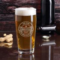 Typisches traditionelles Kirmes Bierglas mit Gravur Bierlogo und Wunschname