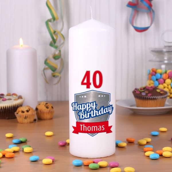 Happy Birthday Kerze zum Geburstag mit Name und Alter