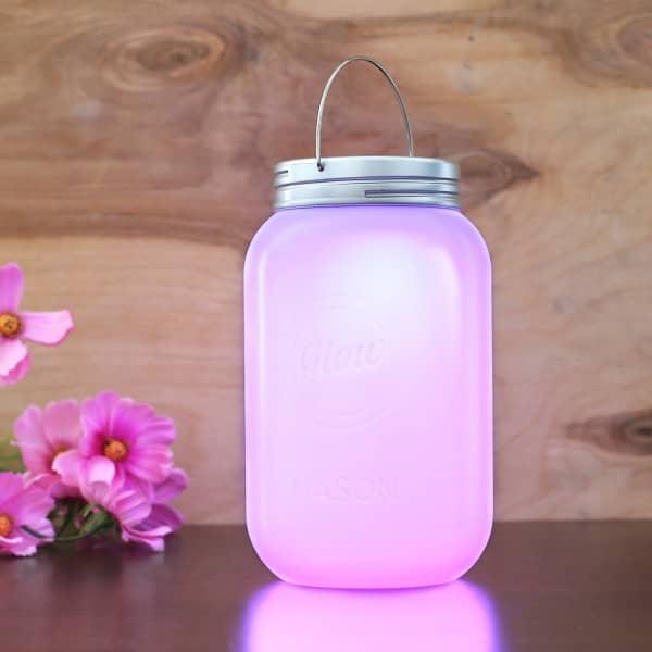 LED Kunststoff-Leuchte Mason Jar
