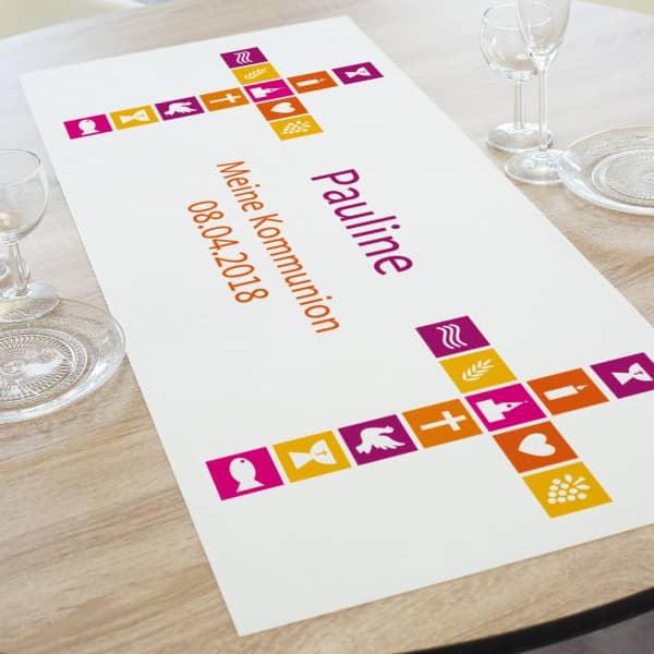 - Tischläufer zur Kommunion, Konfirmation oder Taufe in zwei Längen - Onlineshop Geschenke online.de