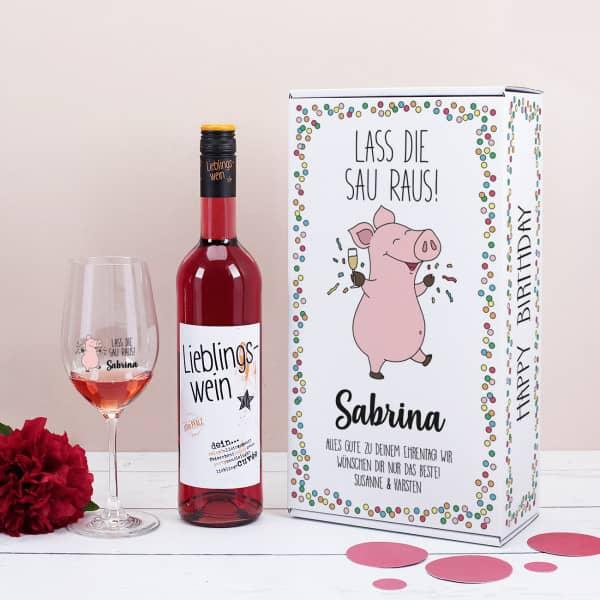 Lieblingswein-Geschenkset zum Geburtstag