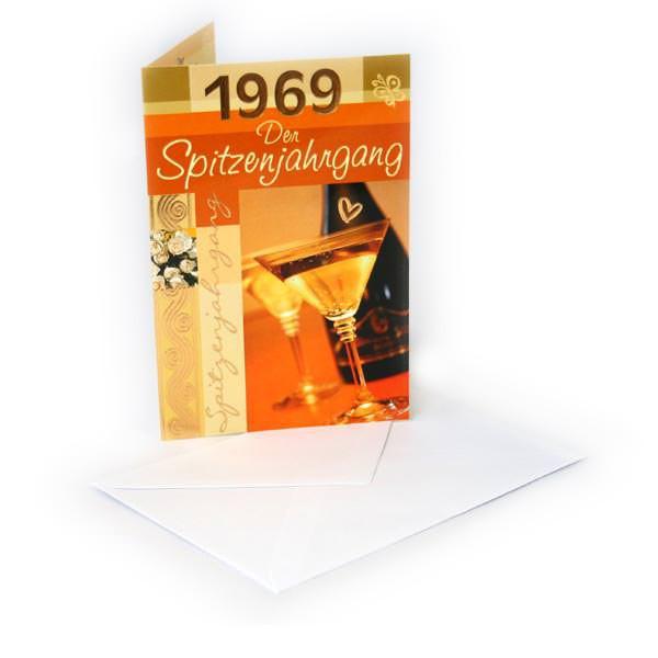 Geburtstagskarte - 1969 Der Spitzenjahrgang