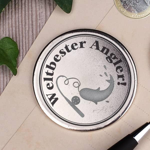 Orden mit Namensgravur für den weltbesten Angler