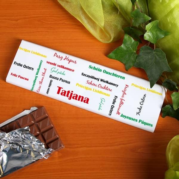 Osterschokolade mit Namen