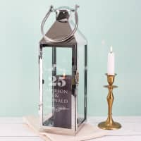 Silberhochzeitsgeschenk - Laterne mit Gravur