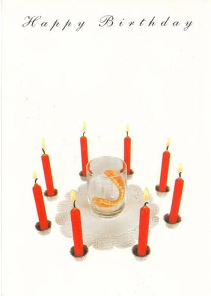 Postkarte zum Geburtstag mit Gebiss