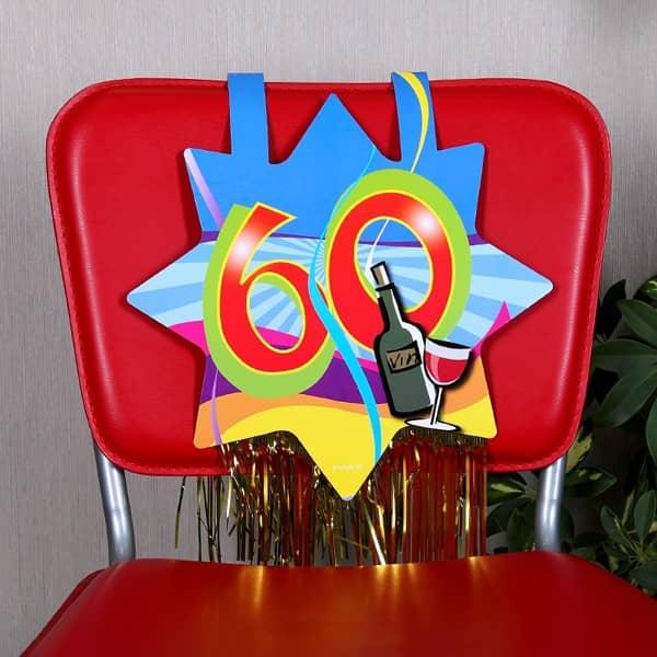 Stuhl dekoration zum 60 geburtstag for 60 geburtstag dekoration