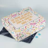 XL Geschenkbox zum Geburtstag mit Name und Wunschtext