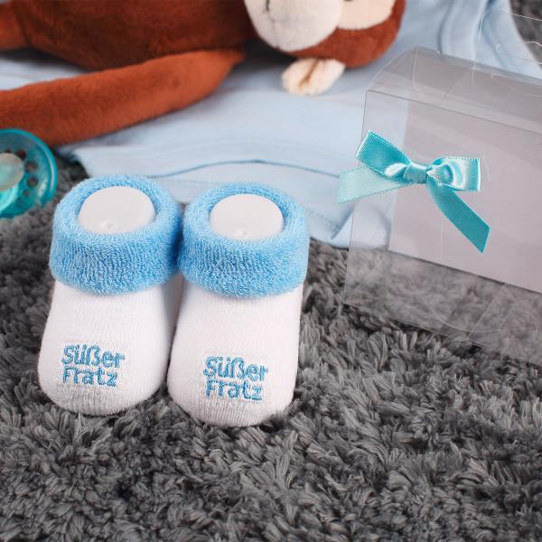 Babys erste Söckchen Süßer Fratz in blau