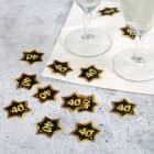 Konfetti zum 40. Geburtstag - Star in Gold und Schwarz