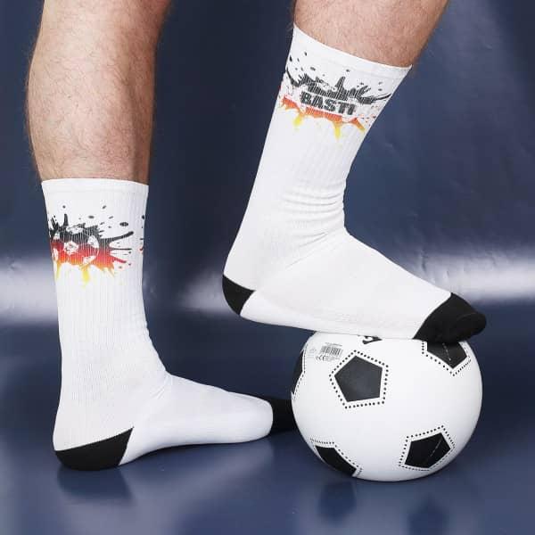 Fußball Socken mit Namensaufdruck