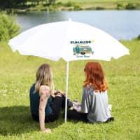 Sonnenschirm für Camper mit persönlichem Aufdruck