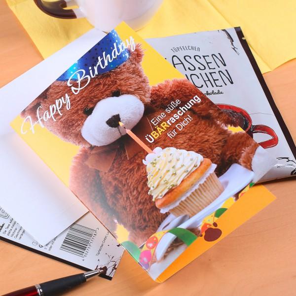 Geburtstagskarte mit Bär