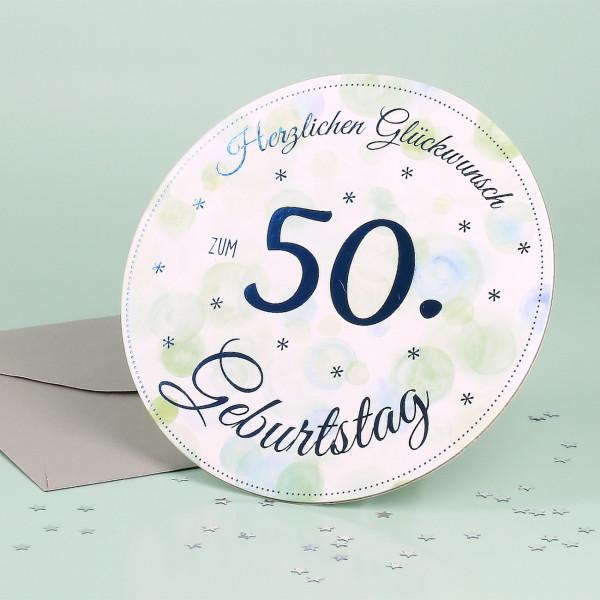Stand Up Glückwunschkarte zum 50. Geburtstag