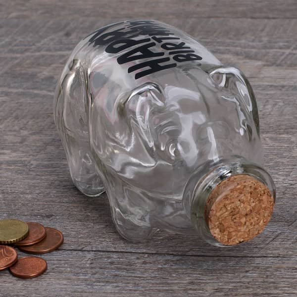 Flaschenpost Sparschwein zum 40. Geburtstag