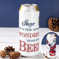 Weihnachtsbierdose mit Ihrem Wunschnamen bedruckt