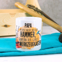 Tasse für Handwerker mit lustigem Spruch und Name