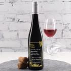 Gravierte Weinflasche zum Geburtstag mit Trauben-Motiv