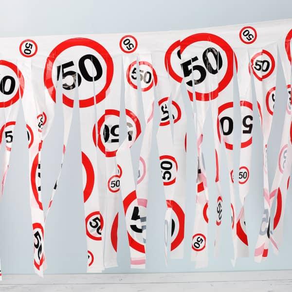 Fransen Girlande 50 Verkehrsschild