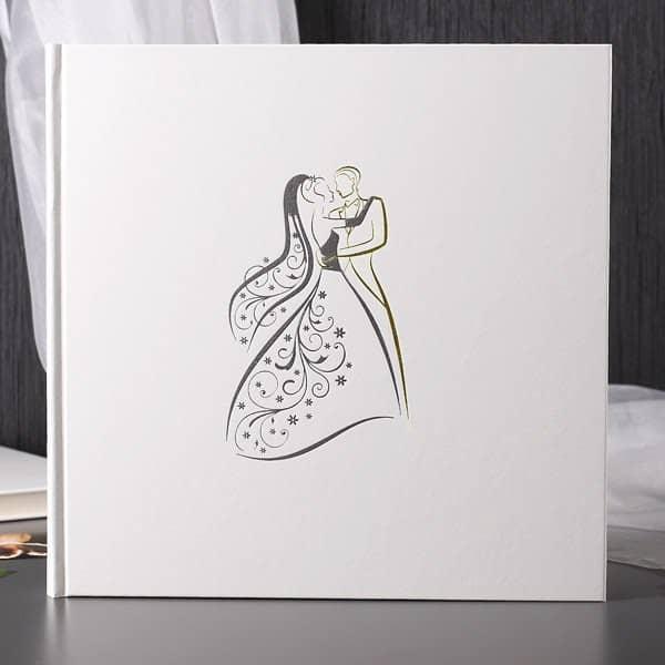 Hochzeitsalbum in weiß
