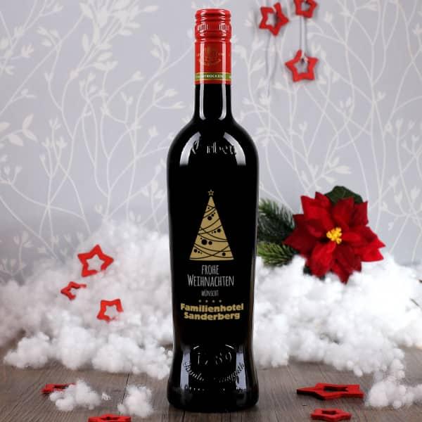 weinflaschen mit ihrem logo als firmengeschenk zu weihnachten. Black Bedroom Furniture Sets. Home Design Ideas