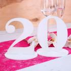 Tischnummer 20 für Geburtstag
