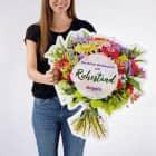 XXL Blumenstrauß Klappkarte zum Ruhestand mit Name