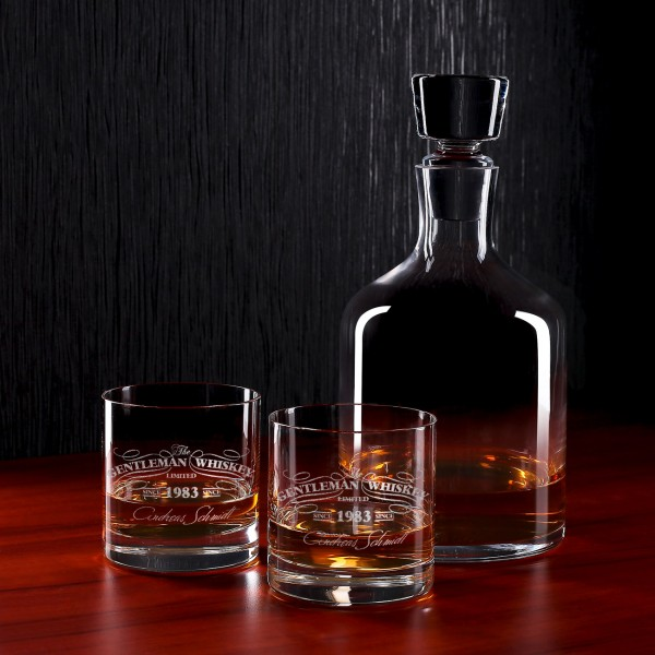 Stilvolles Whisky-Set mit individueller Gravur